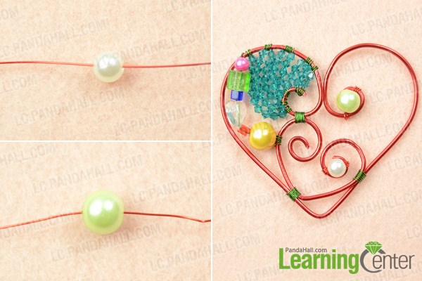 how to make a wire heart pendant