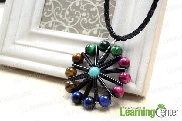 finished ferris wheel pendant necklace