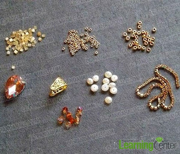 materials needed in the DIY heart shaped necklace