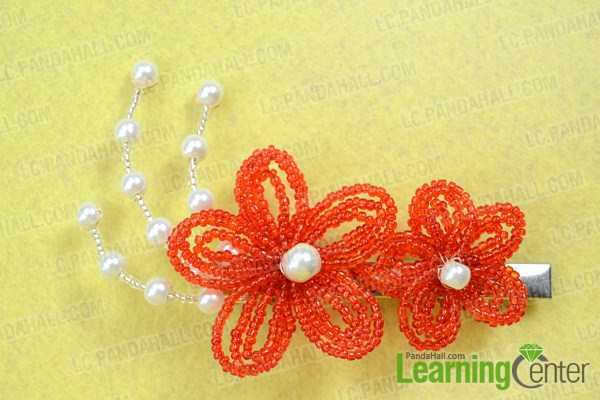 finish how to make bridal hair accessories