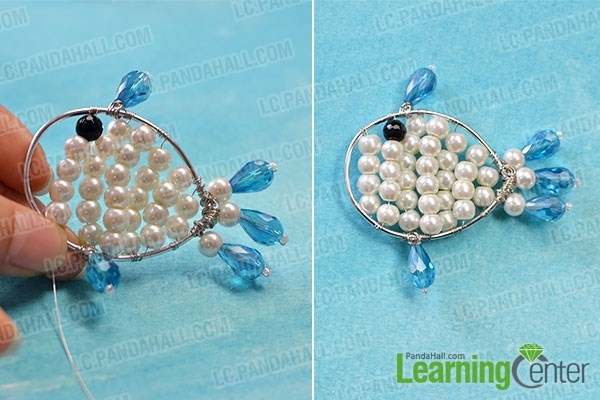 make the left part of the beaded fish