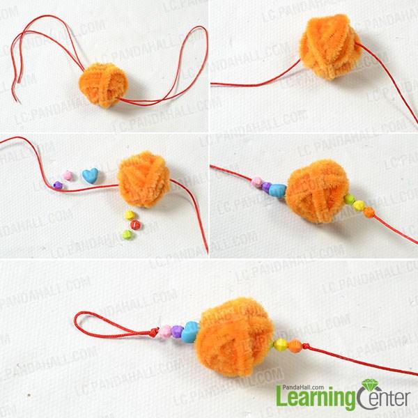 Add nylon thread for hanging