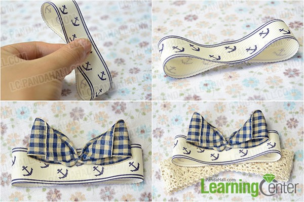 glue ribbons and lace trims