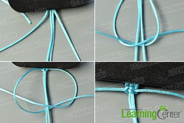make the first part of the nylon thread braided bracelet