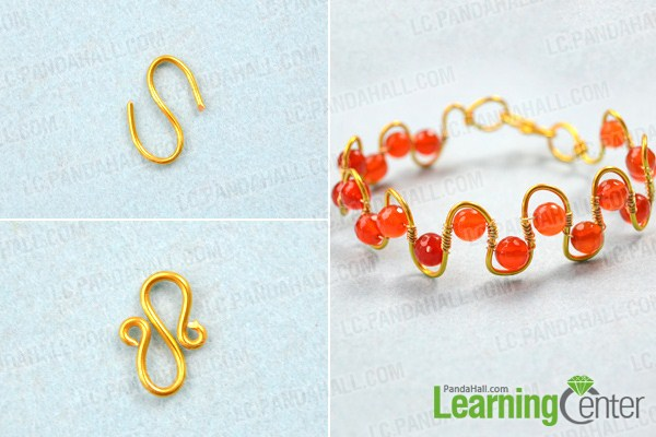 finish how to make a wire wrapped bracelet