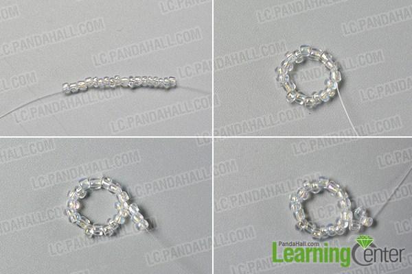 make the third part of the bling beaded slave bracelet