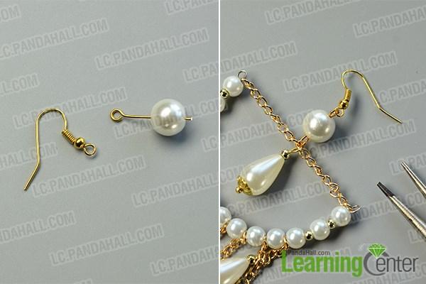 How to Make Graceful Chandelier Earrings with White Pearl Beads ...