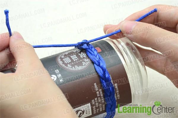 Finalize the sailor knot friendship bracelet