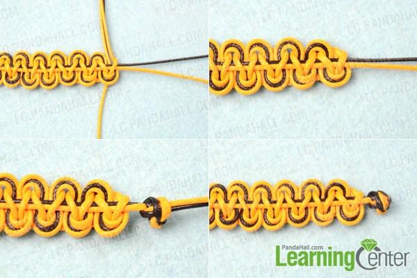 double wave friendship bracelet instructions