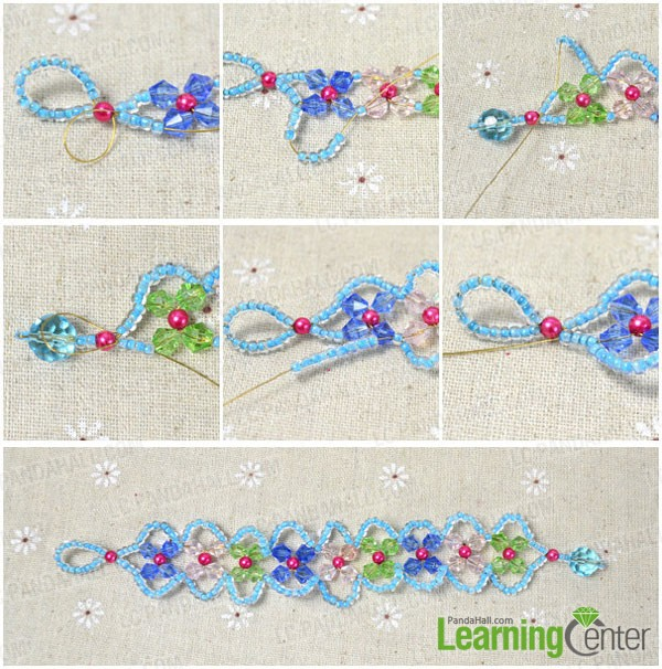 bead weaves of the flower bracelet