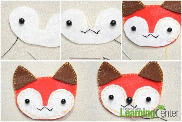 Step 2: Make fox's face