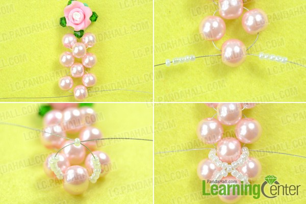 Make basic beaded flower earring patterns