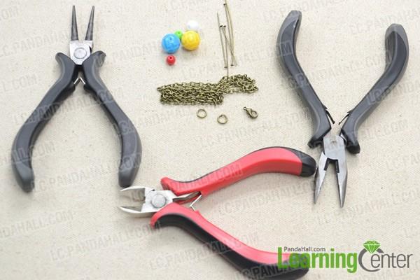 Necessities for DIY cluster necklace