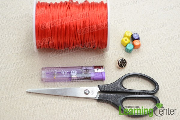 Necessities for this Chinese knot friendship bracelet:
