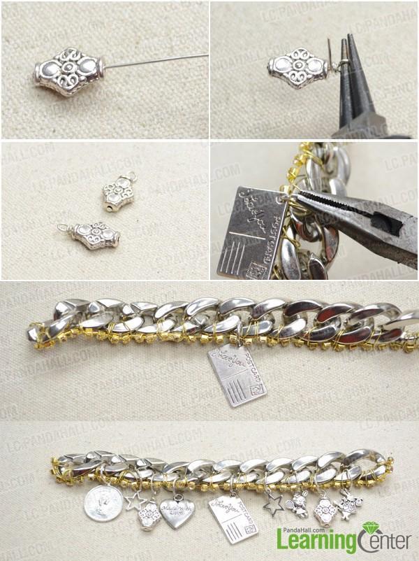 Step 2: Attach Tibetan charms onto chain