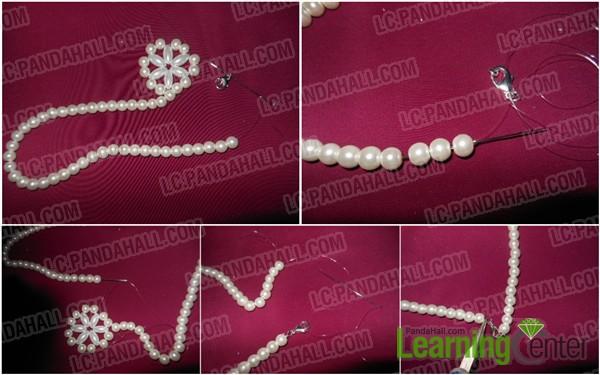 Finish beaded snowflake necklace