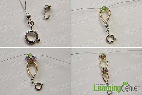 make the first part of the seed and glass bead flower bracelet