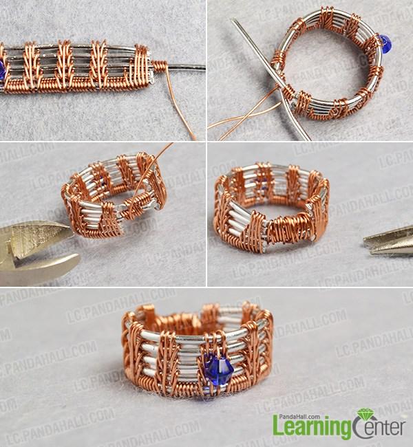 Finish the original designed wire ring