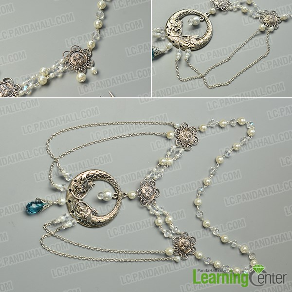 finish this Tibetan flower pearl hair jewelry