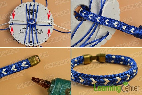 make the rest part of the blue kumihimo friendship bracelet