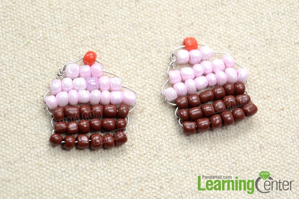 make another beaded cupcake earring dangle