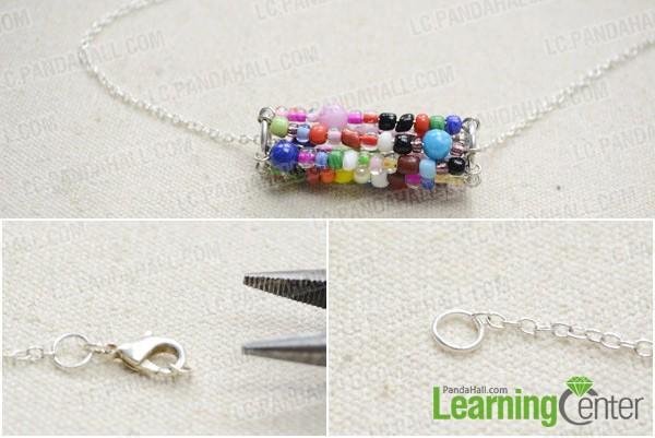 Step 2: Finish waterwheel necklace