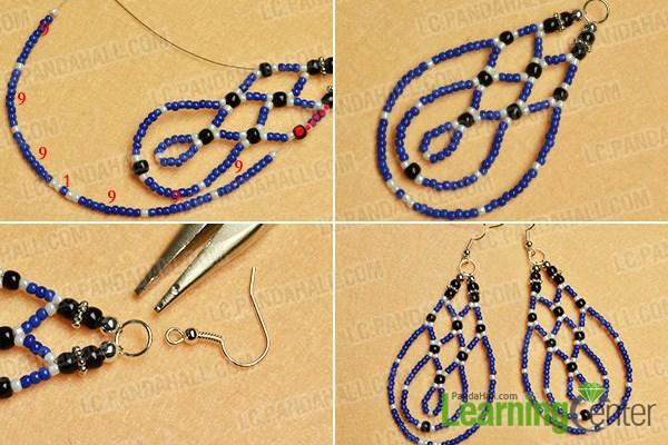 Finish the drop bead earrings