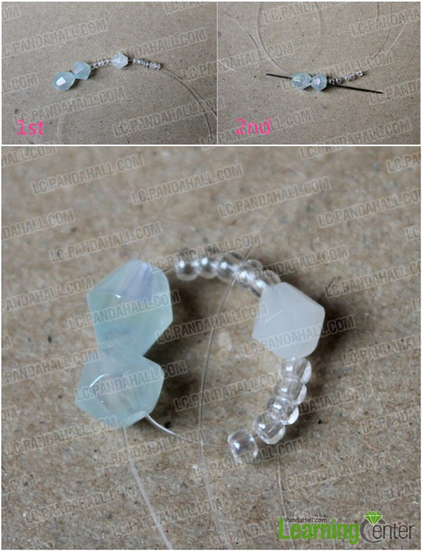 Make first beaded loop