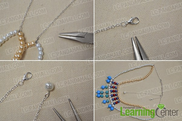 make the rest part of the two-strand pearl necklace2