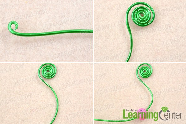 Instruction on how to wire wrap earrings