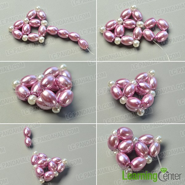 make the third part of the purple pearl heart pendant