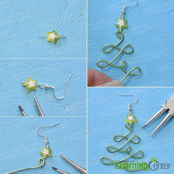 Pandahall Tutorial On How To Make Christmas Tree Earrings  - Make Christmas Tree Earrings