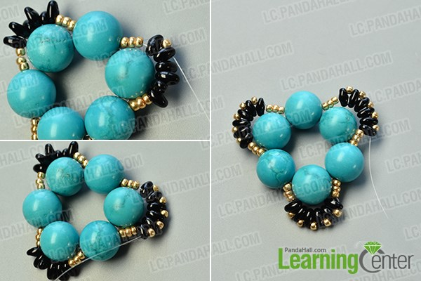 make the second part of the flower beads ring