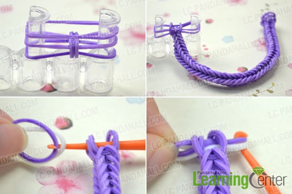 Making A Double Cross Loom Bracelet