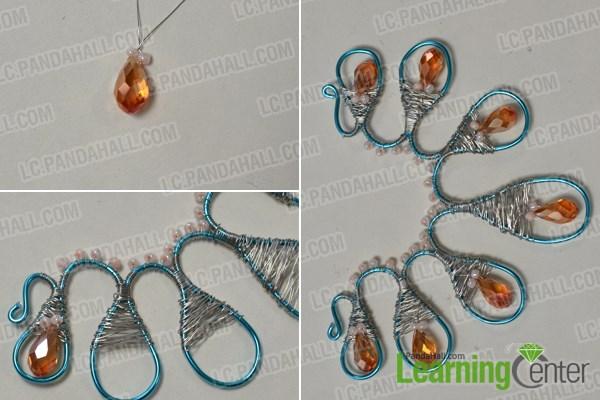 Add orange bead embellishment