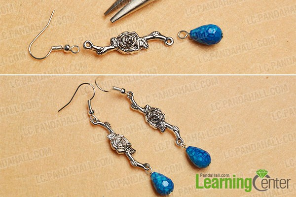 make the rest part of the easy chain square bead drop earrings