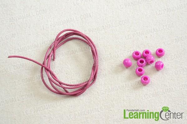 Materials needed for making Easter bracelet