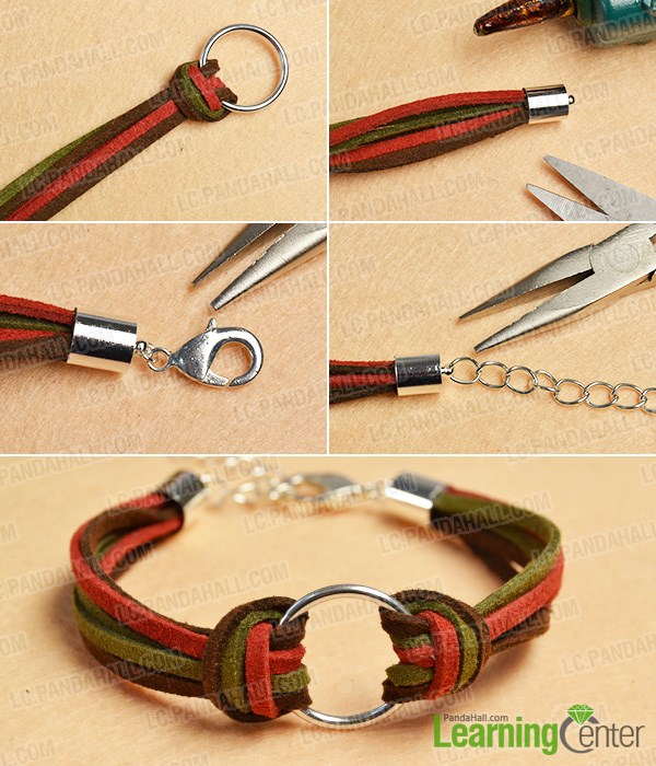 finish this simple suede cord bracelet