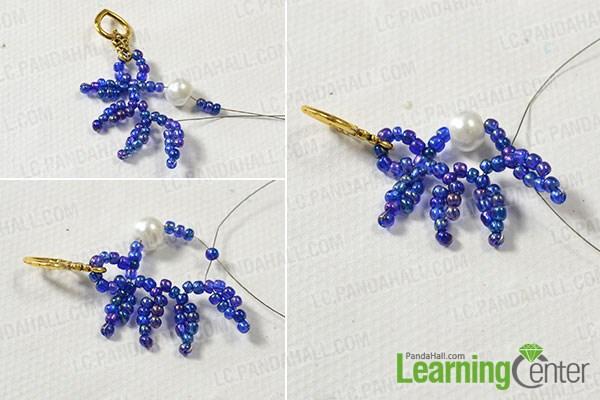 Add white pearl bead adornments