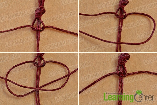 make the first part of the square knot bracelet