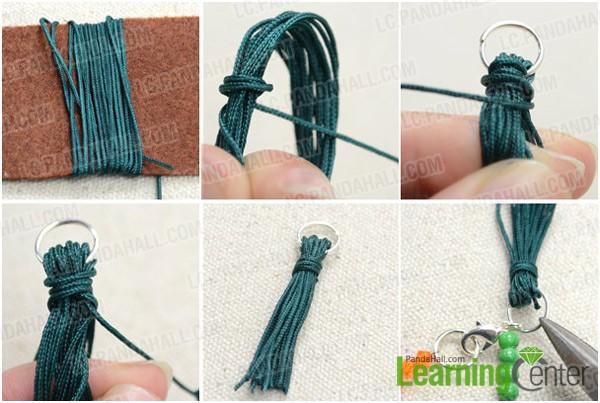 Step 2: Make nylon thread tassel