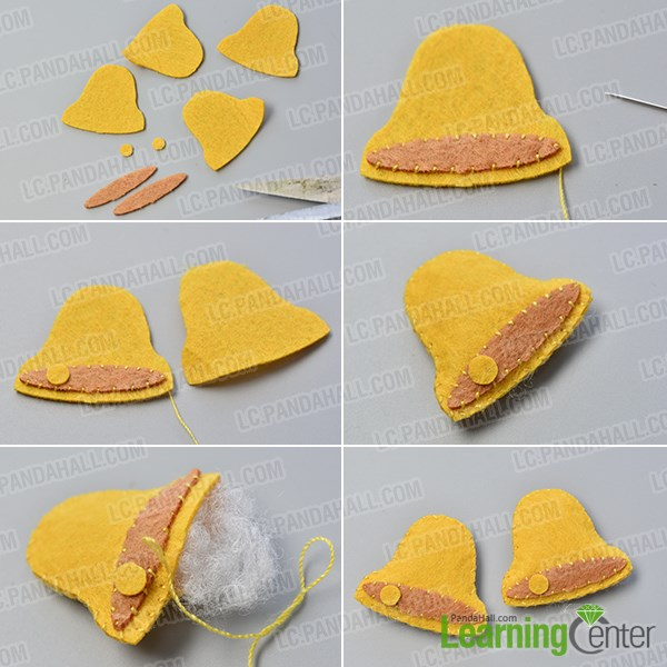 Make the fifth part of the easy felt Christmas hanging decoration