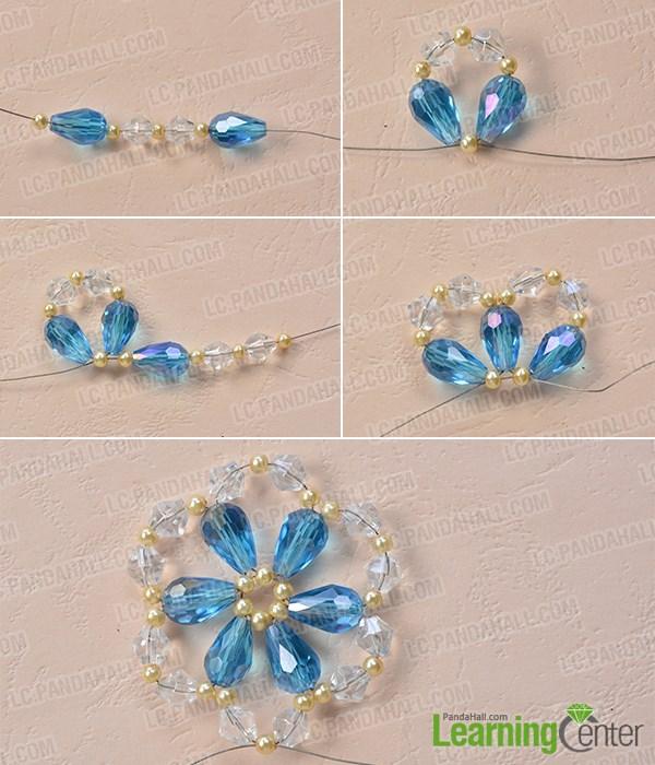 Bead the basic flower pattern