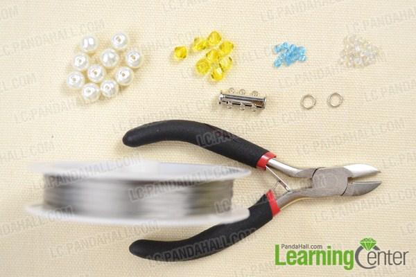Materials on making beaded cuff bracelet pattern