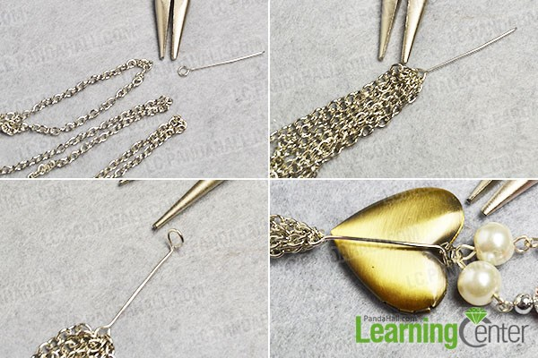 Add chain tassel to the necklace