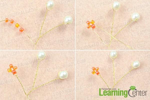 Make basic pearl bridal headpiece