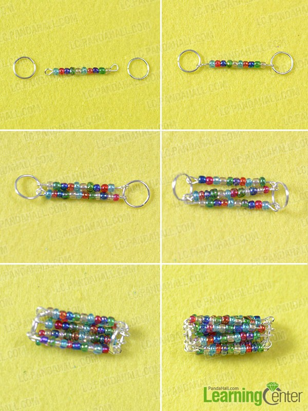 make the seed bead pendant