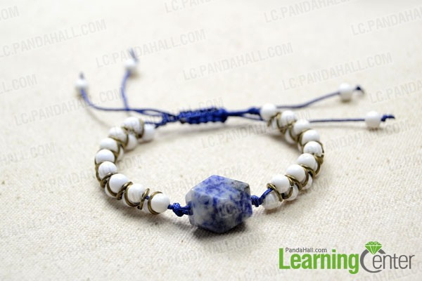 String one 6mm bead at each cord end