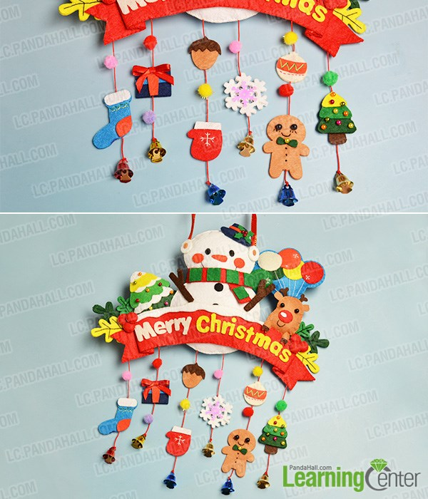 Finish the hanging decorations for Christmas