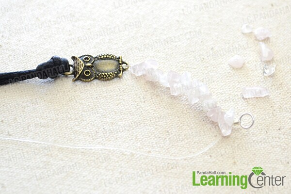 string beads onto elastic wire